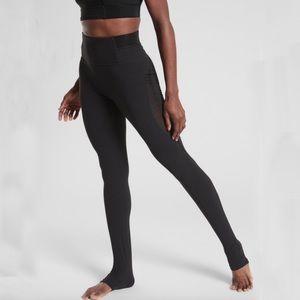 Athleta Black Aura Heel Tight Powervita Leggings